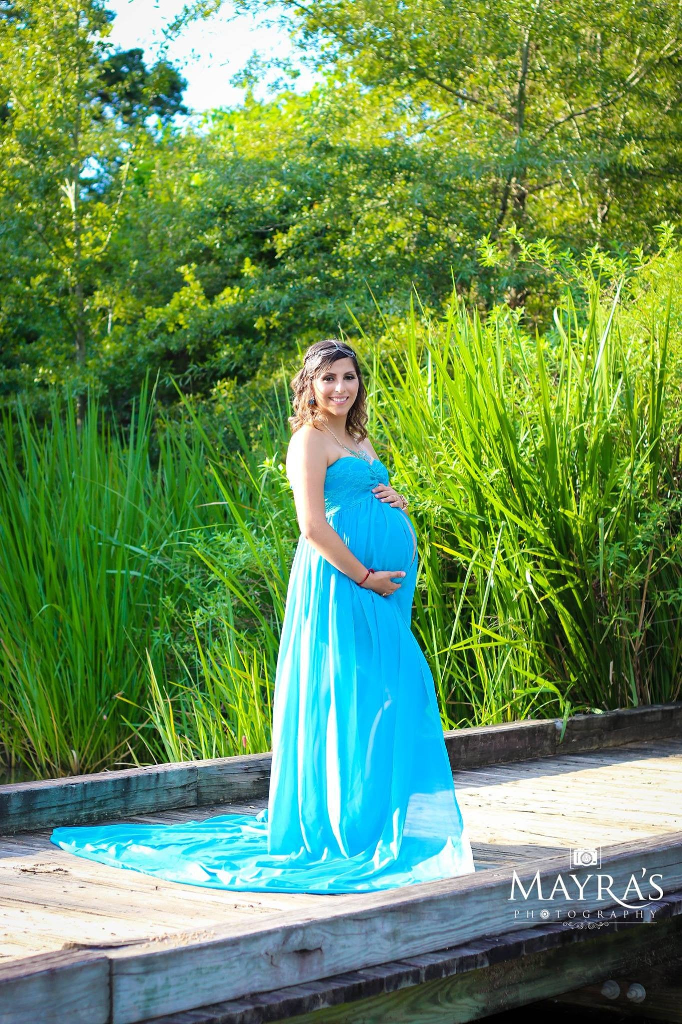 Valerie Chiffon-Lace Maternity Gown/Maternity Dress – Design by C ...