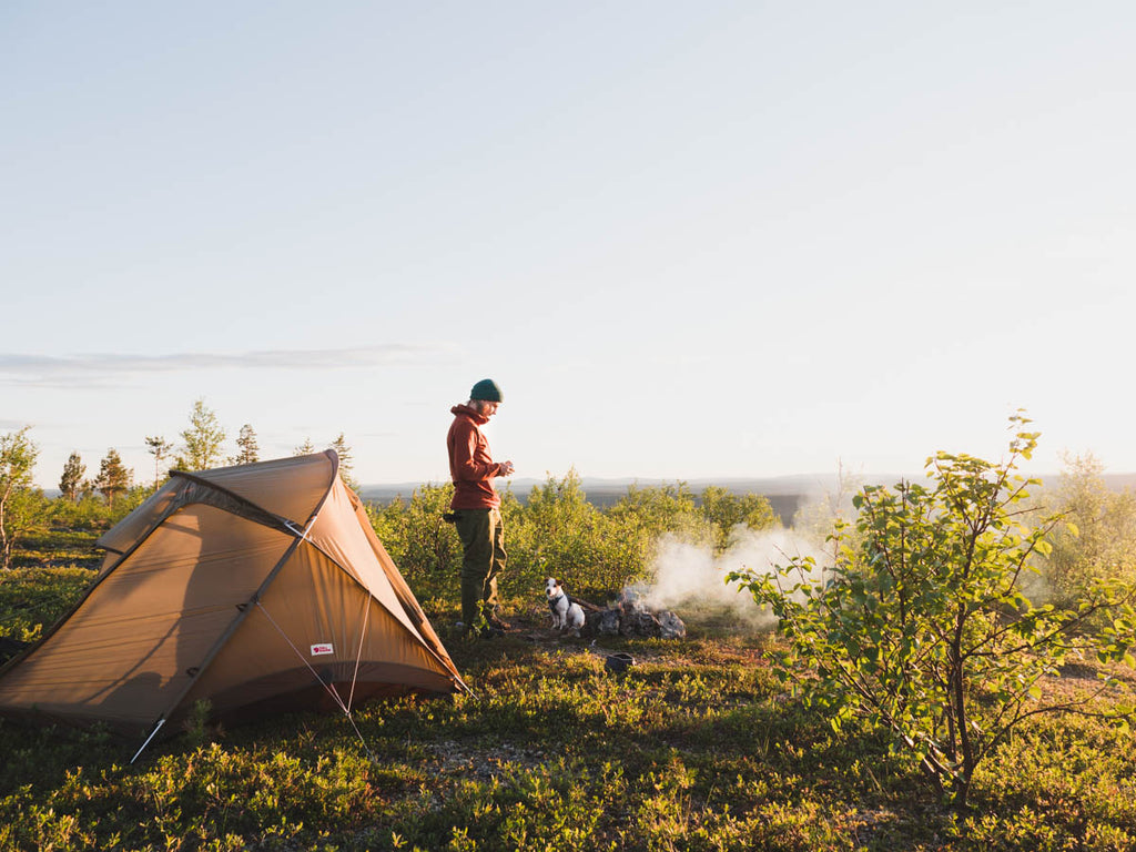 Camping in lapland