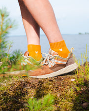 Merino Wool Quarter Socks Autumn Gold
