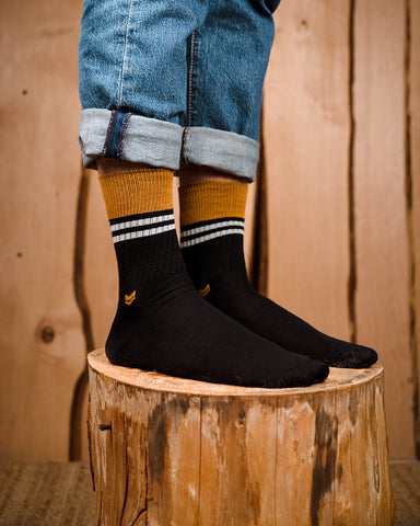 Merino Wool Crew Socks 2.0 Black