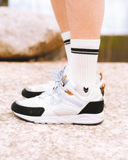 Merino Wool Crew Socks Off White