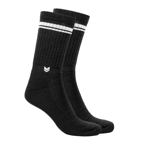 Merino Wool Crew Socks Black