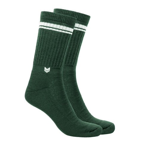 Merino Wool Crew Socks Green Carpers