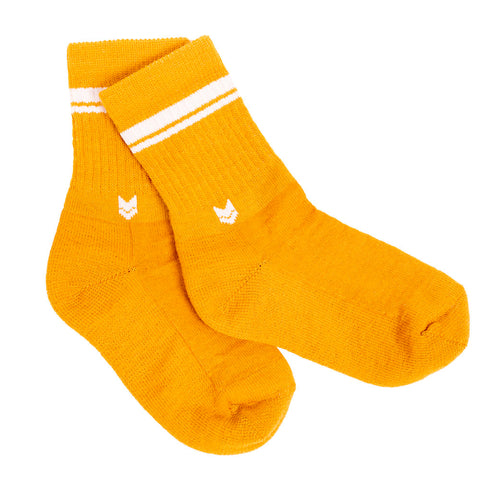 Merino Crew Socks Kids Autumn Gold