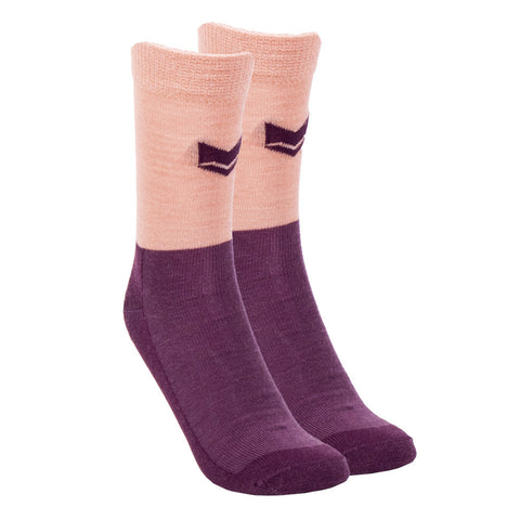 Merino Wool Everyday Socks Plum/Salmonpink