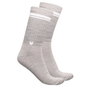 Merino Wool Crew Socks Light Grey