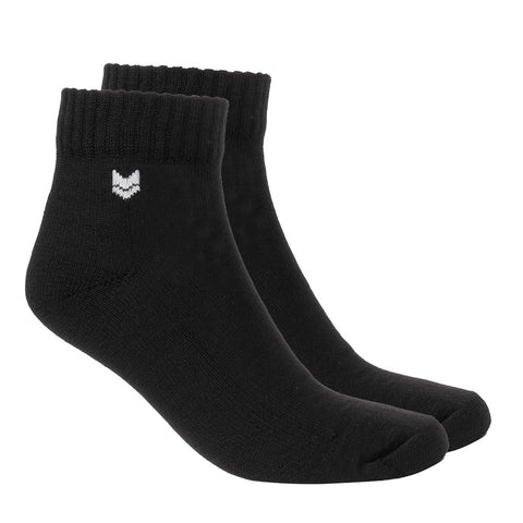 Merino Wool Quarter Socks Black