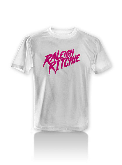 Retro Raleigh Ritchie Pink Logo T-Shirt (White)