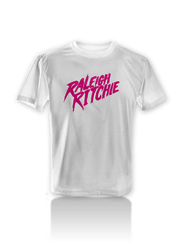 Raleigh Ritchie Pink Logo T-Shirt (White)