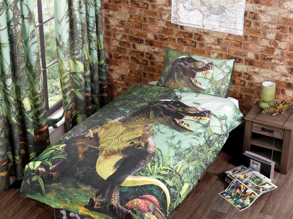 T Rex Childrens Bedding Set Multi