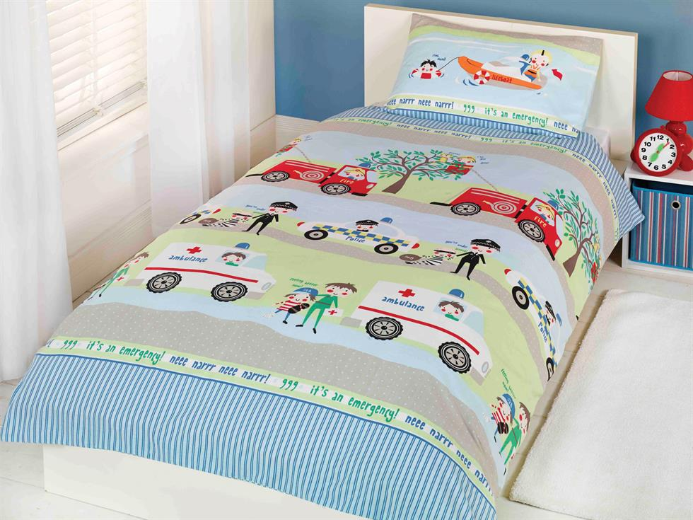 Emergency Vehicles Childrens Bedding Set