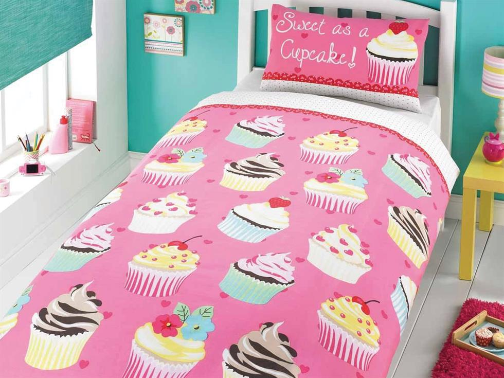 Cupcake Childrens Bedding Set Pink