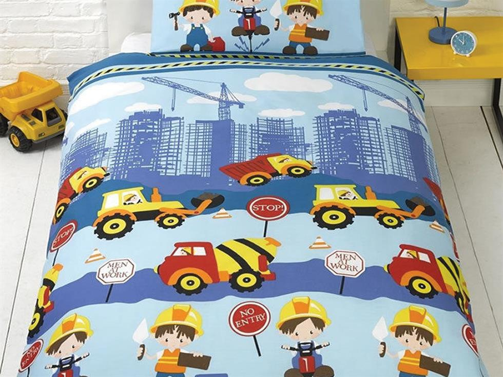 Men at Work Childrens Bedding Set