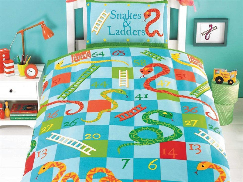 Snakes and Ladders Childrens Bedding set Muti