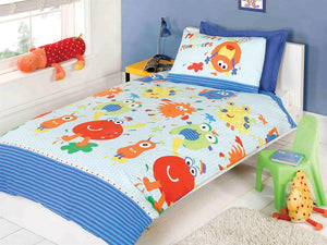 Little Monster Childrens Bedding Set Multi