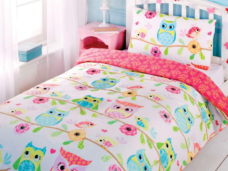 Owl and Friends Childrens Bedding Set Multi