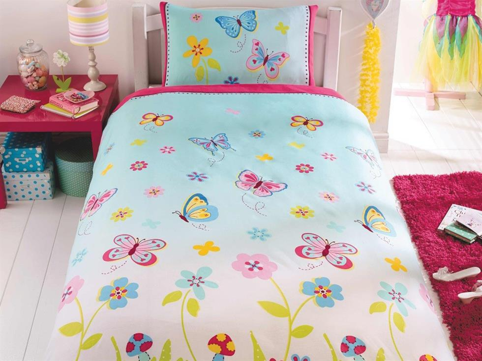 Butterfly Garden Childrens Bedding Set Multi