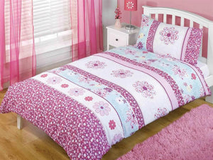 Flower Power Childrens Bedding Set Pink