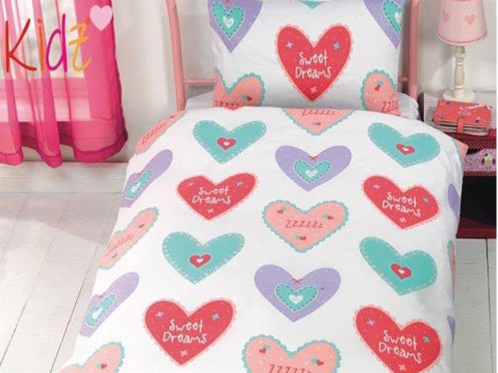 Hearts Childrens Bedding Set Multi
