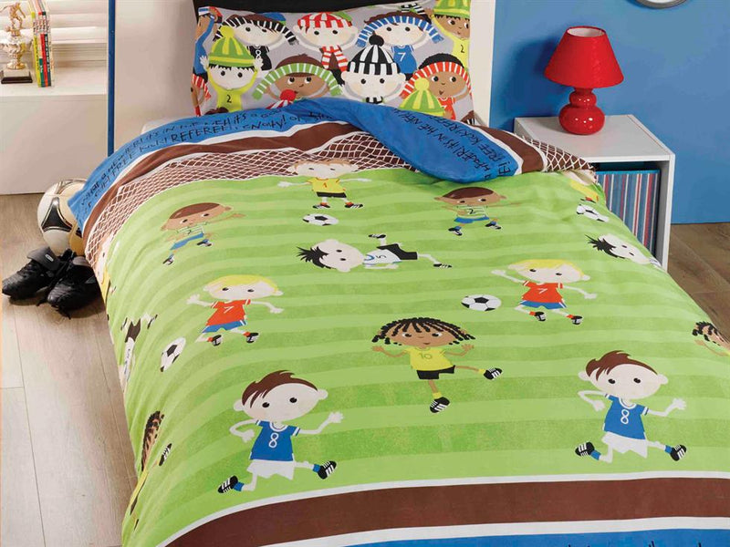 Football Friends Childrens Bedding Set Multi