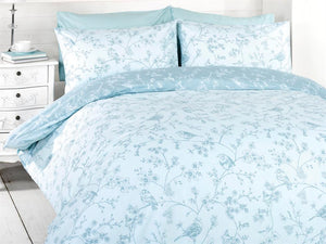 Bird Toile Bedding Set Blue