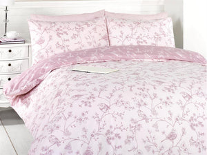 Bird Toile Bedding Set Pink