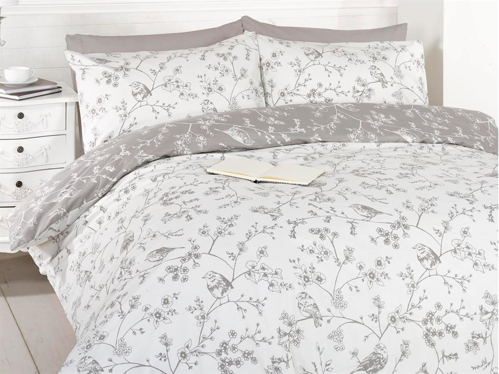 Bird Toile Bedding Set Taupe
