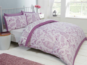 Birdcage Bedding Set Mauve