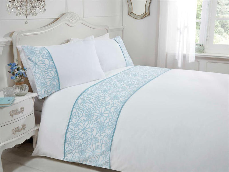 Butterfly Luxury Bedding Set Duck Egg
