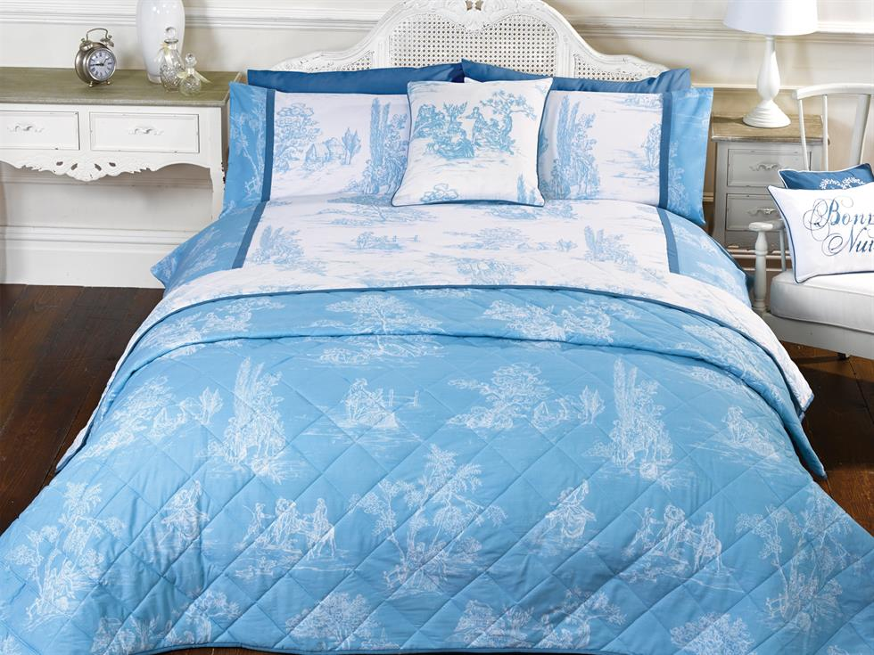 Camargue Luxury Bedding Set Blue