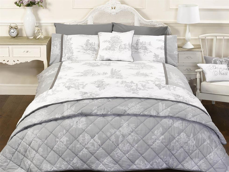 Camargue Luxury Bedding Set Grey