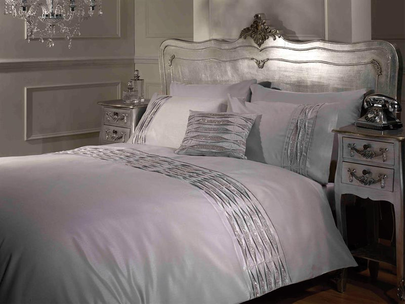 Crystal Luxury Bedding Set Silver