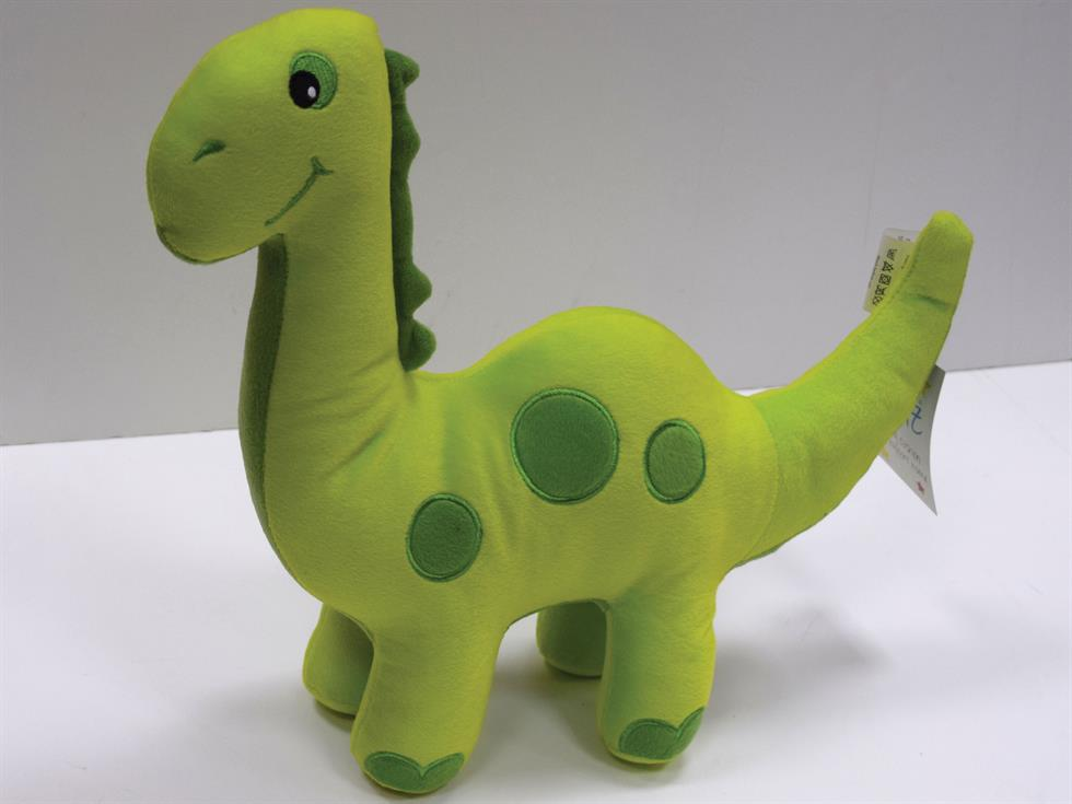 Dinosaur Filled Childrens Cushion Green