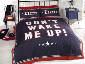 Dont Wake Me Up Bedding Set Navy