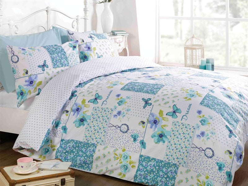 Dream Patchwork Bedding Set Teal