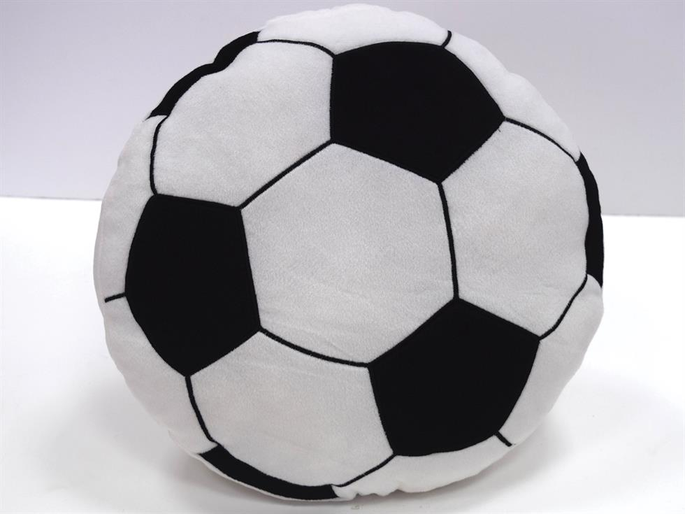 Football Filled Childrens Cushion White
