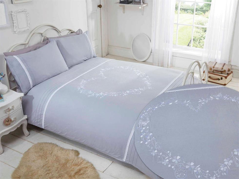 Heart Luxury Bedding Set Grey