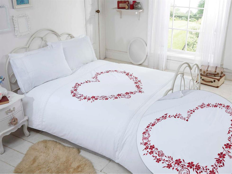 Heart Luxury Bedding Set White