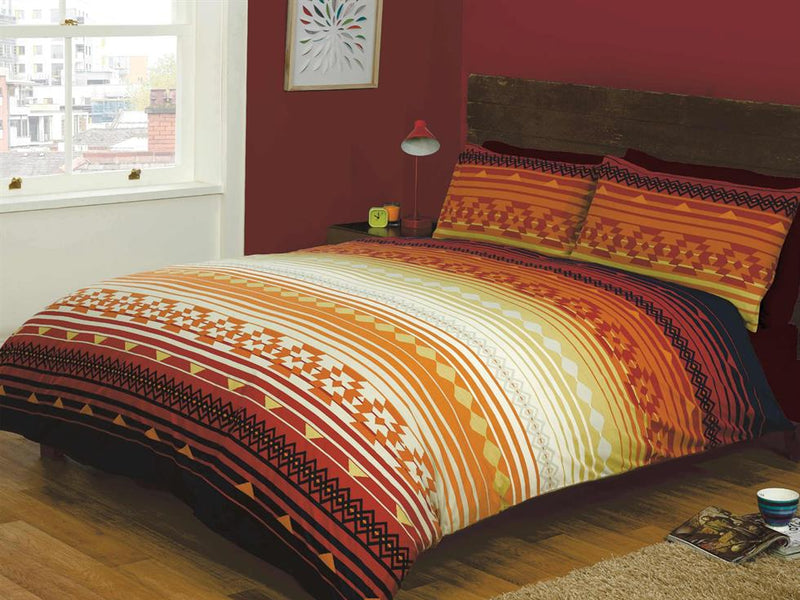 Kilim Stripe Bedding Set Terracotta