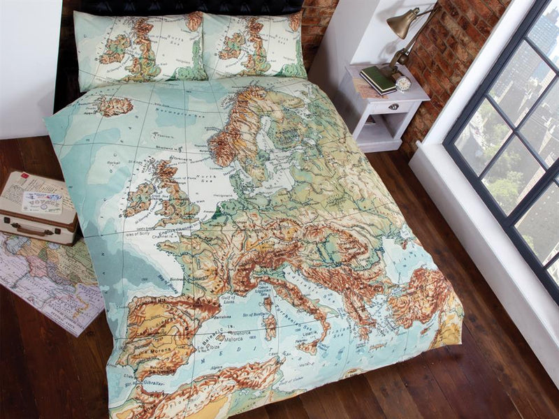 Map Bedding Set Multi