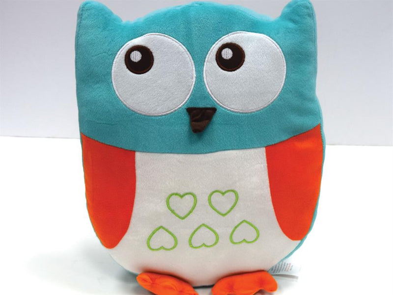 Owl Filled Childrens Cushion Multi