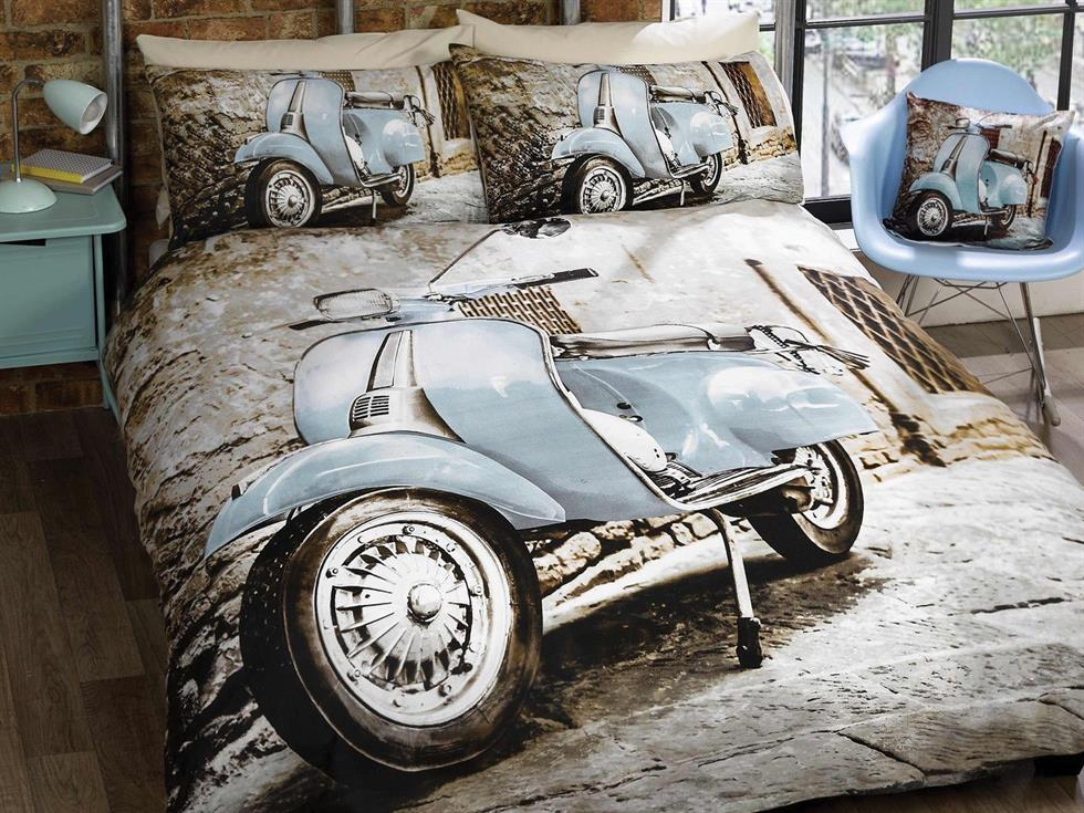 Scooter Bedding Set Blue