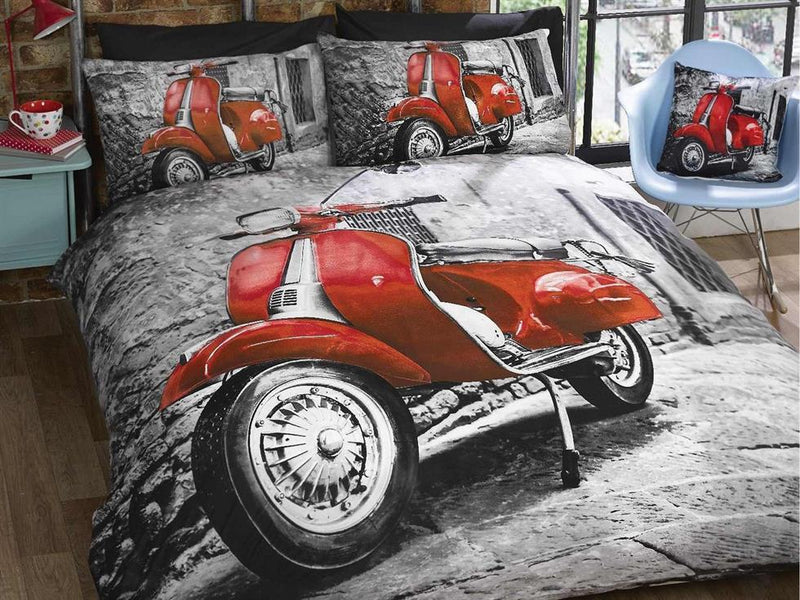 Scooter Bedding Set Red