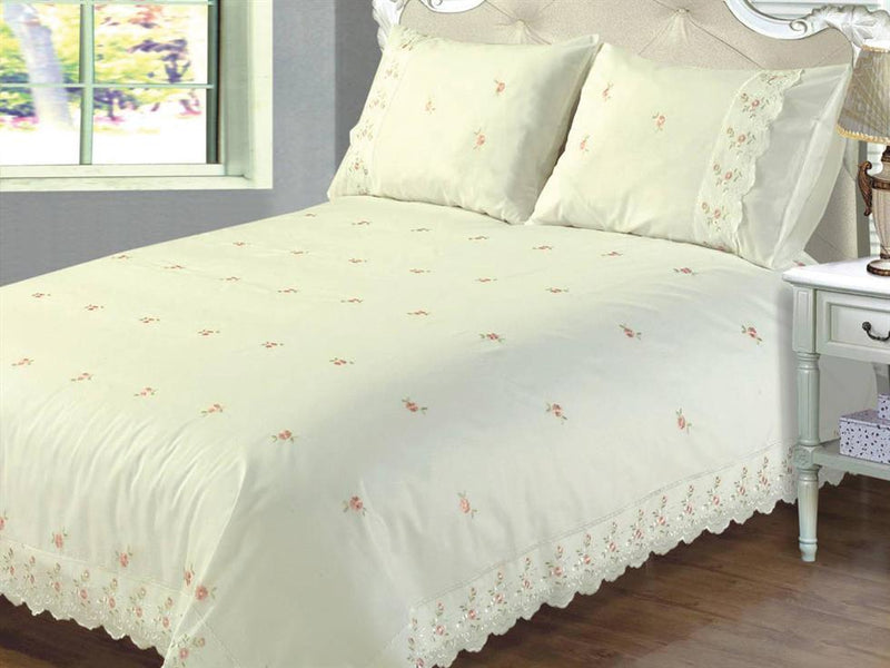Sophie Luxury Bedding Set Cream