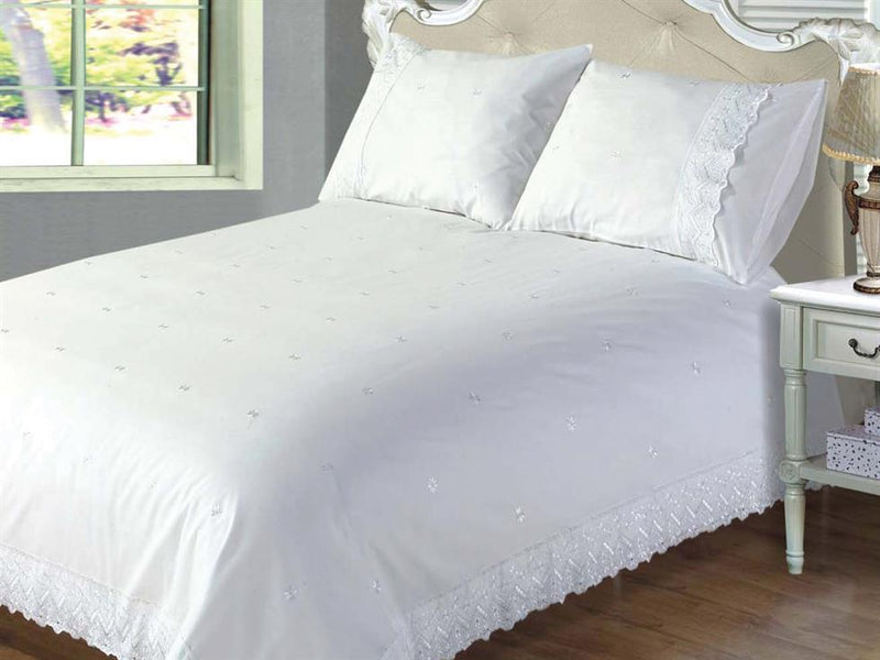 Victoria Luxury Bedding Set White