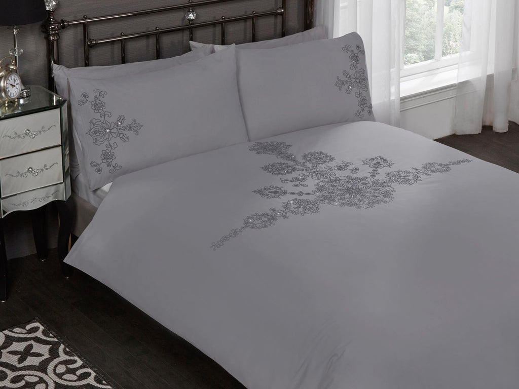 Amelie Luxury Bedding Set Grey