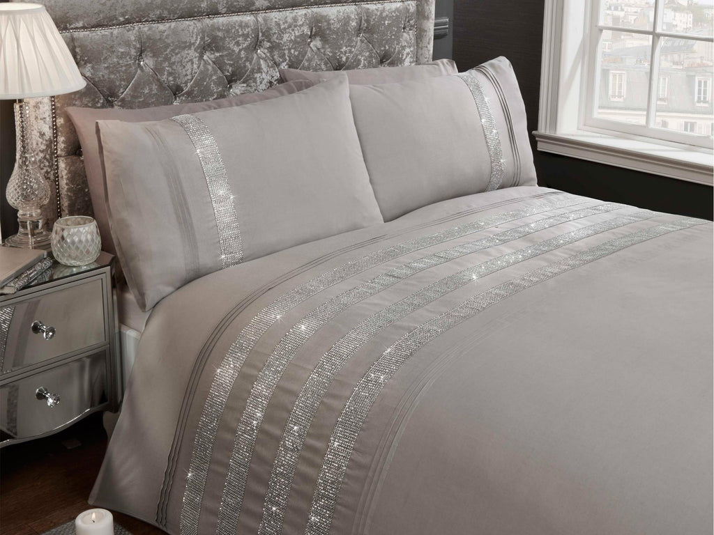 Carly Luxury Bedding Set Grey