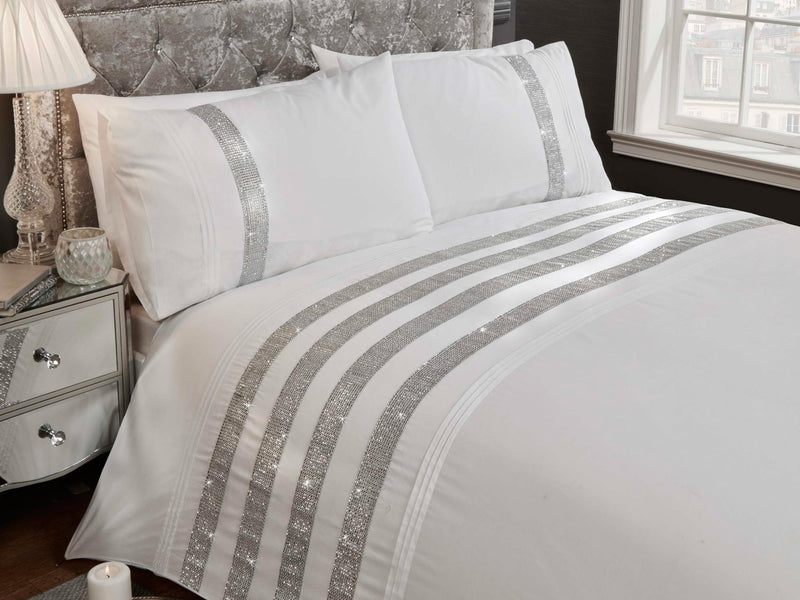 Carly Luxury Bedding Set White