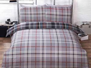 Hamilton Check Bedding Set Grey