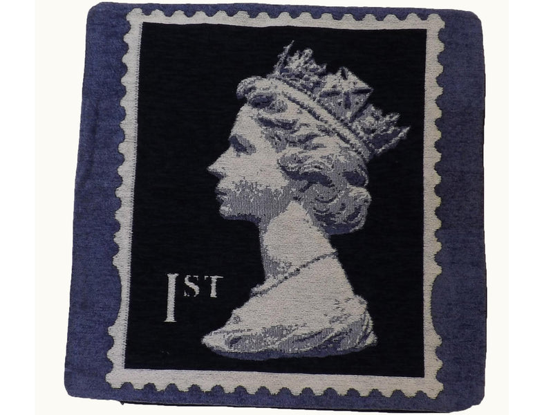 Stamp Cushion Cover Blue